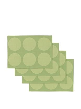 Winkler Set of 4 Ronds Jacquard Placemats (Kiwi)