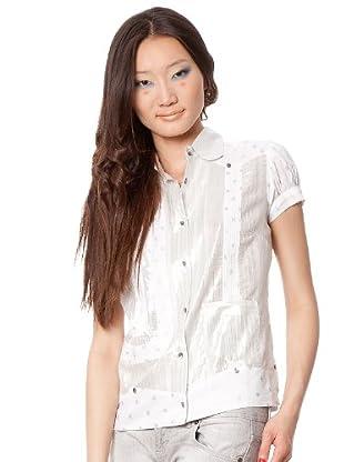 Custo Camisa Nurrie (Plata / Blanco)