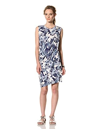 Thakoon Carbon Copy Women's Sleeveless Draped Dress (Ink/White)