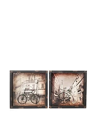 Firefly Set of 2 Metal Bicycle Wall Décor Pieces