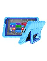 Gumdrop Cases Hideaway Rugged Case with Stand for Dell Venue 8 Pro Atom Tablet (Light Blue-Royal Blue)