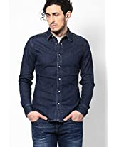 Blue Solid Casual Shirt G-Star RAW