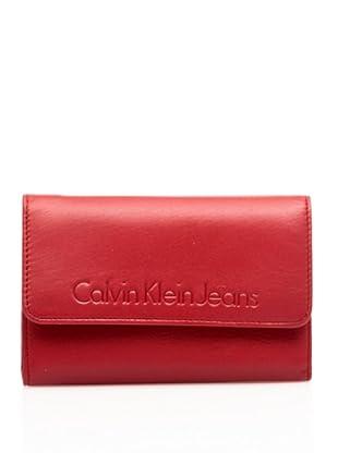 Calvin Klein Jeans Billetero Monedero Crs104 (Rojo)
