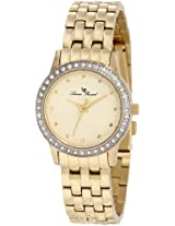 Lucien Piccard Women's 11696-YG-10 Monte Velan Beige Textured Dial Gold Ion-Plated Stainless Steel Watch