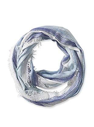 Saachi Women's Striped Infinity Scarf With Sequins, Blue