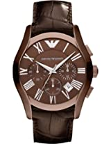 Emporio Armani Chronograph Leather Mens Watch Ar1609