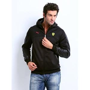 Puma Men Black Ferrari Hooded Jacket