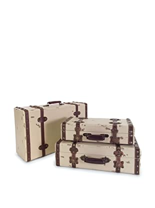 Voyager Set of 3 Antique Style Suitcases