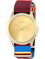Nixon Women's A3481685 Mod Stainless Steel Watch with Fabric Band
