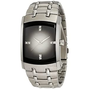 Armitron Men's 204507DGSV Swarovski Crystal Accented Stainless Steel Gray Dial Watch