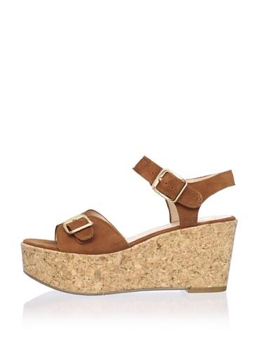 DV by Dolce Vita Women's Onya Platform Sandal (Cognac Suede)