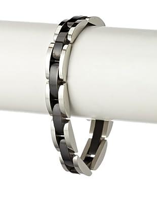 Blackjack Black/Steel Semi Circle Link Bracelet