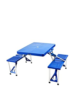Picnic at Ascot Portable Picnic Table Set (Blue)