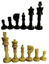 craft store Hand Made Wooden Chess Set 5""