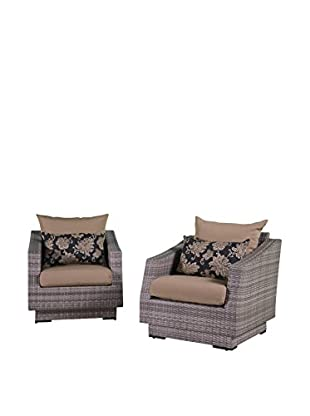 RST Brands Cannes Set of 2 Club Chairs, Beige