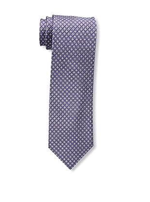 Bruno Piattelli Men's Neat Silk Tie, Purple Charcoal