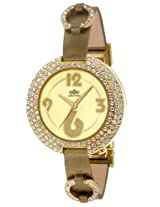 Elite analog Ladies dress Gold dial Women's watch - E50882G/003