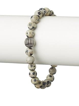 Stephen Oliver Dalmatian Jasper Stretch Bracelet