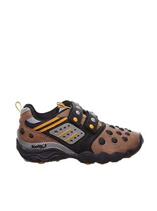 Footgol Zapatillas Velcros (Negro / Taupe / Naranja)