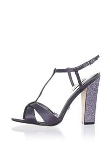 Badgley Mischka Platinum Women's Jenie T-Strap Sandal (Charcoal)