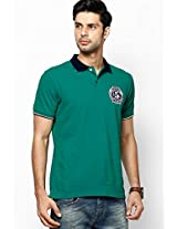 Green Regular Fit Polo T-Shirt