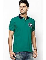 Green Regular Fit Polo T-Shirt
