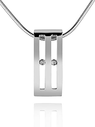 Secret Diamonds 60250054 - Colgante de mujer de plata de ley con 2 diamantes