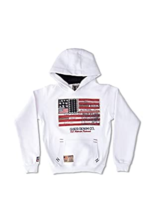 Gangster Unit Sudadera Flagamerica Boy (Blanco)