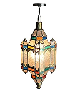 Jeffan Palace B Pendant Lamp with Metal Accents, Natural