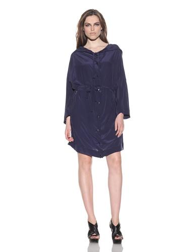 under.ligne by Doo.Ri Women's Silk Anorak (Navy)