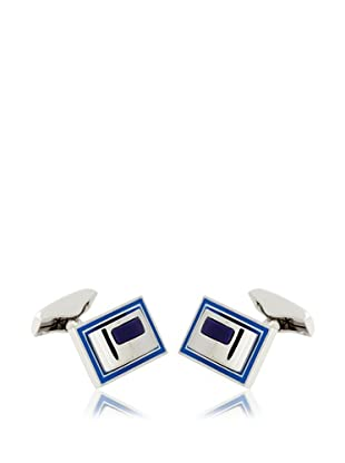 Olimpo Gemelos Rectangulares de Paladio Azul