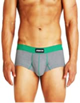 Punch Mens Synthetic Underwear Trunks -Green, (X-Large)