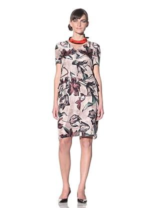 MARNI Women's Printed Silk Dress (Rose Green)
