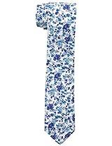 Original Penguin Men's Poe Floral Tie, White, One Size