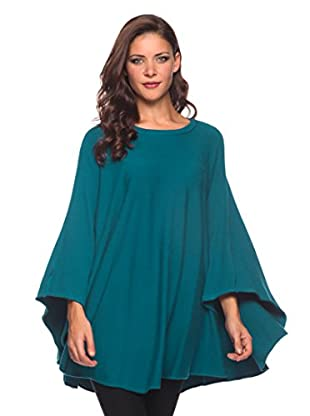Blue Glance Pullover Poncho