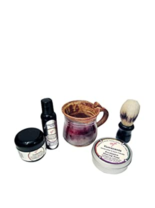 Yumscents Shaving Kit with Handcrafted Pottery Mug, Eucalyptus
