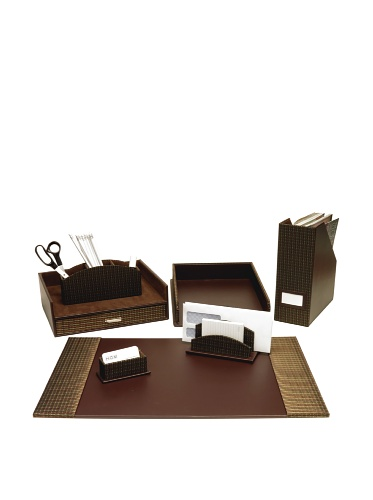Homessence Newport Desktop Set, Brown