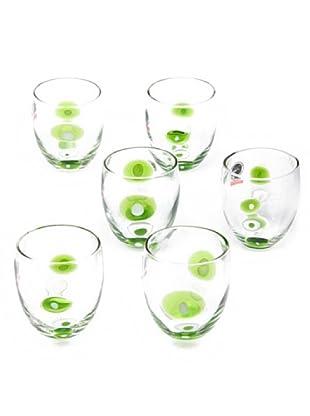 Tognana Set 6 Bicchieri Acqua Brenda (verde)