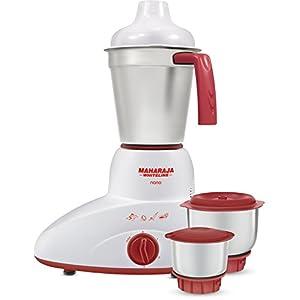 Maharaja Whiteline Nano Happiness 500-Watt Mixer Grinder (Red and White)