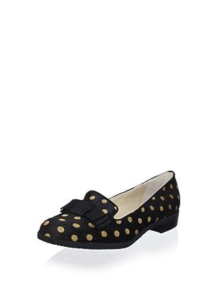 Adrienne Vittadini Footwear Women's AV-Premier Flat (Black-Camel)