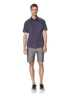 Dorsia Men's Connor Short Sleeve Shirt (Blue)