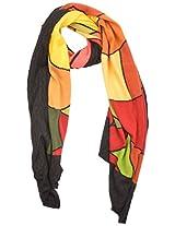 The Knit Factory Women's Acrylic Woolen Stole (1022a_Multi-Colour)