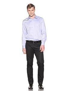 Valentino Men's Dress Shirt (Blue/White Pattern)