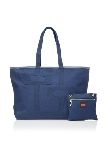 Angela Adams Women's Manfred Island Large Canvas Tote (Navy)