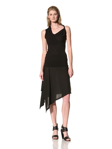 RICK OWENS Women's Twist Shoulder Sleeveless Top (Black)