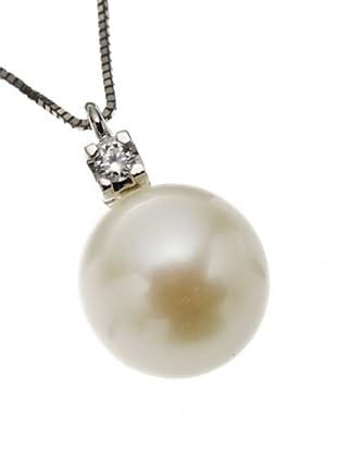 Emi Kawai Kette Weißgold 18k Brillant Perle 9 mm