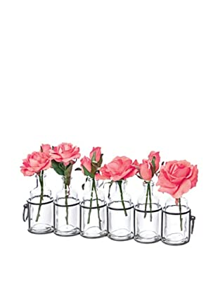 Skalny Set of 6 Bottle Vases with Metal Holder
