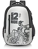 Skybags Pixel Extra 02 Wht Backpack
