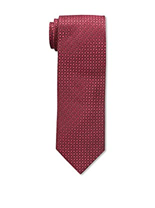 Bruno Piattelli Men's Maze Silk Tie, Red Black