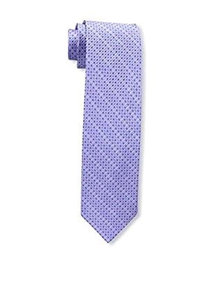 Bruno Piattelli Men's Stripe Silk Tie, Lilac